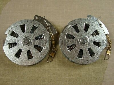 6 x yo-yo mécanique automatique les moulinets de pêche survie bushcraft Yoyo moulinet snare