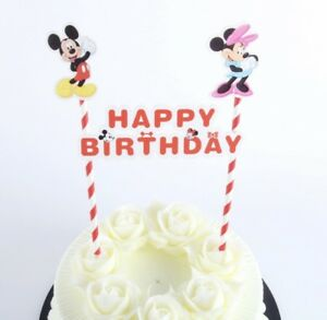 Admirable New Disney Mickey Minnie Mouse Themed Party Happy Birthday Cake Funny Birthday Cards Online Unhofree Goldxyz