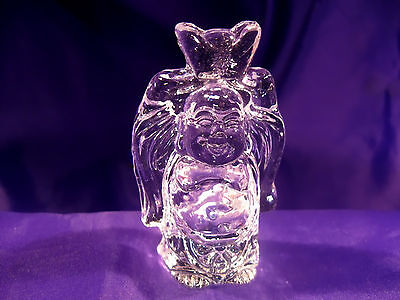 FSH108 Feng Shui Optical Crystal Buddha with Ingot Medium