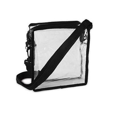 Clear Cross-Body Messenger Shoulder Bag Stadium Approved Transparent Purse Bag