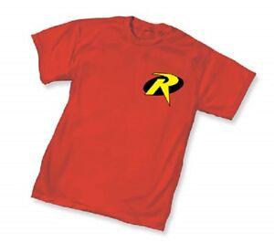 DC-ROBIN-SYMBOL-Logo-RED-ADULT-Licensed-T-Shirt-Batman-S-3XL