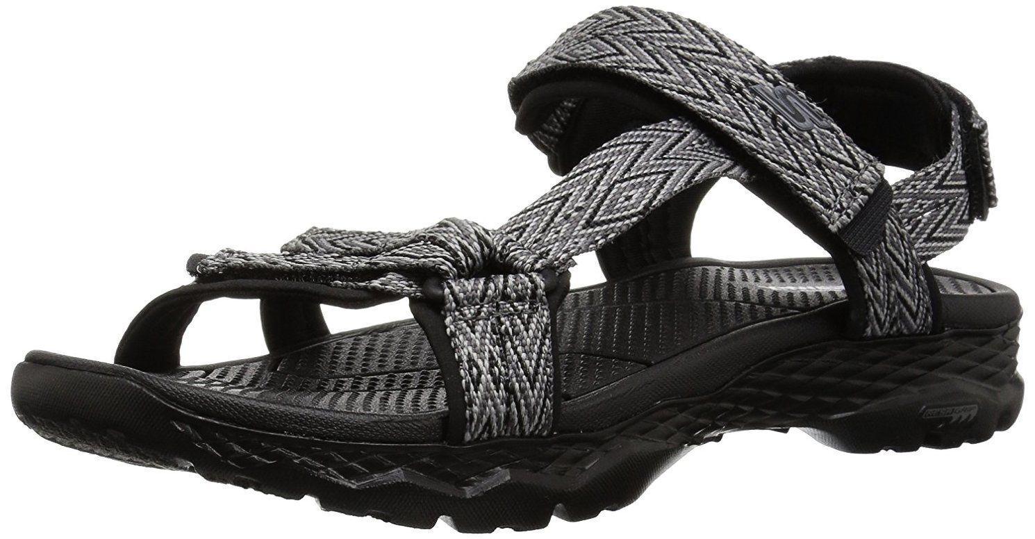 Skechers femmes  Go Walk Outdoors-runyon Sport Sandal,  noir / gris  14644 BKGY