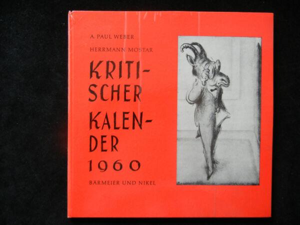 (a) . Paolo Weber Kritischer Calendario 1960 - Editore Bärmeier Und Nikel (