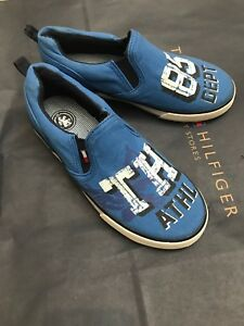5676bb8a9 Image is loading Tommy-Hilfiger-Kids-Canvas-Sneakers-Blue-Size-US-