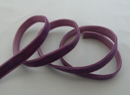 Violet 10mm x 1m Plain Velvet Ribbon New * DIY Browband Craft