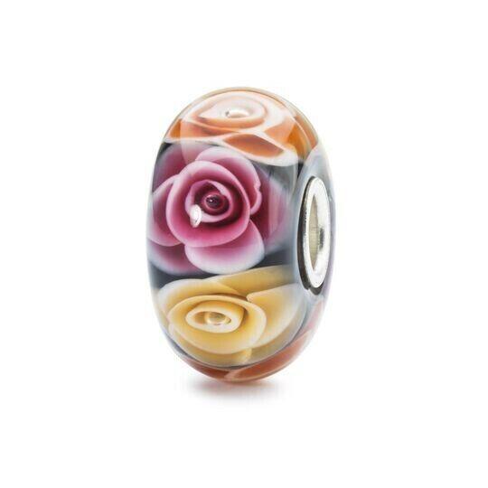 Trollbeads Sterling Silver Genuine Charm Bead Roses for Mom Mum TGLBE-30019