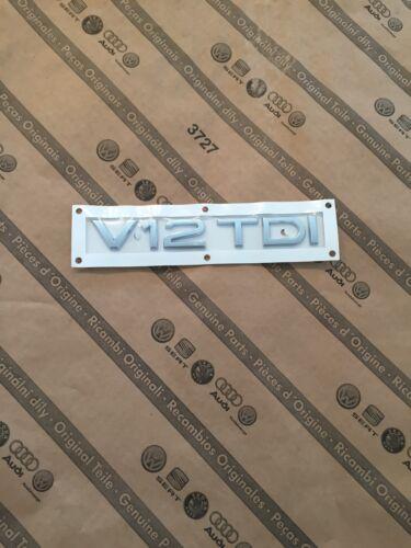 Original Audi V12 TDI Logo V12 TDI Q7 Schriftzug Audi V12