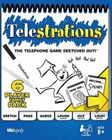 Telestrations 6 Player - Family Pack , New, Free Shipping on sale