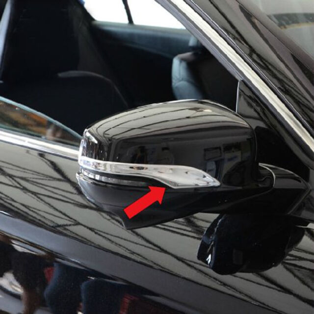2pcs ABS Chrome Rear View Mirror Side Cover Trims For Honda Accord MK9 2013-2015