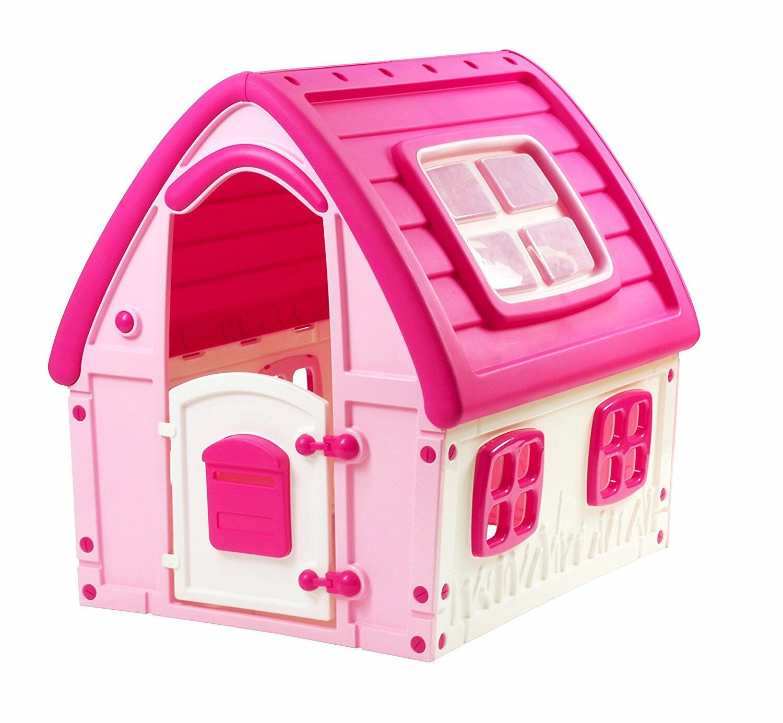 Caseta Para Niños rosado casa de plástico desde el jardín Grande interno