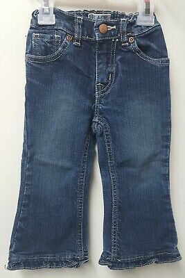 The Children/'s Place~nwt ruffle flare blue denim jeans~2T~NEW~adjustable waist