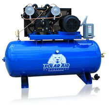 75hp Air Compressor Pressure Lubricated 2 Stage Single Phase V4 80 Gallon