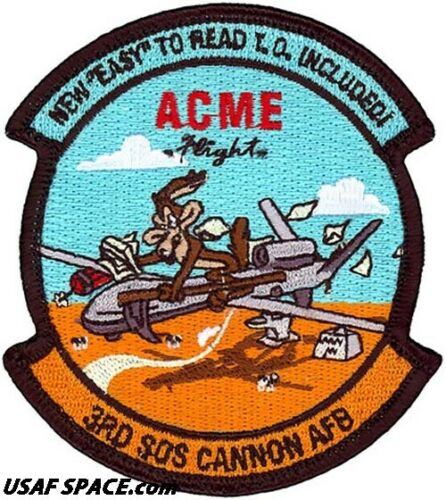 ORIGINAL ACME FLIGHT USAF 3RD SPECIAL OPERATIONS SQ. CANNON AFB PATCH MQ-9