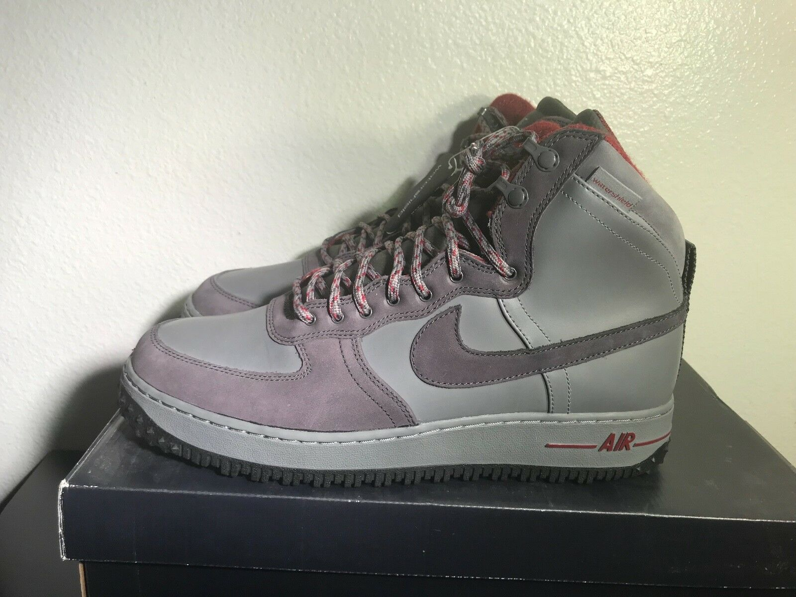 Air Force 1 Hi DCNS mtry BT St color 537889001 botas militares de color St gris marrón hombres 12 13 DS 2fa3c2