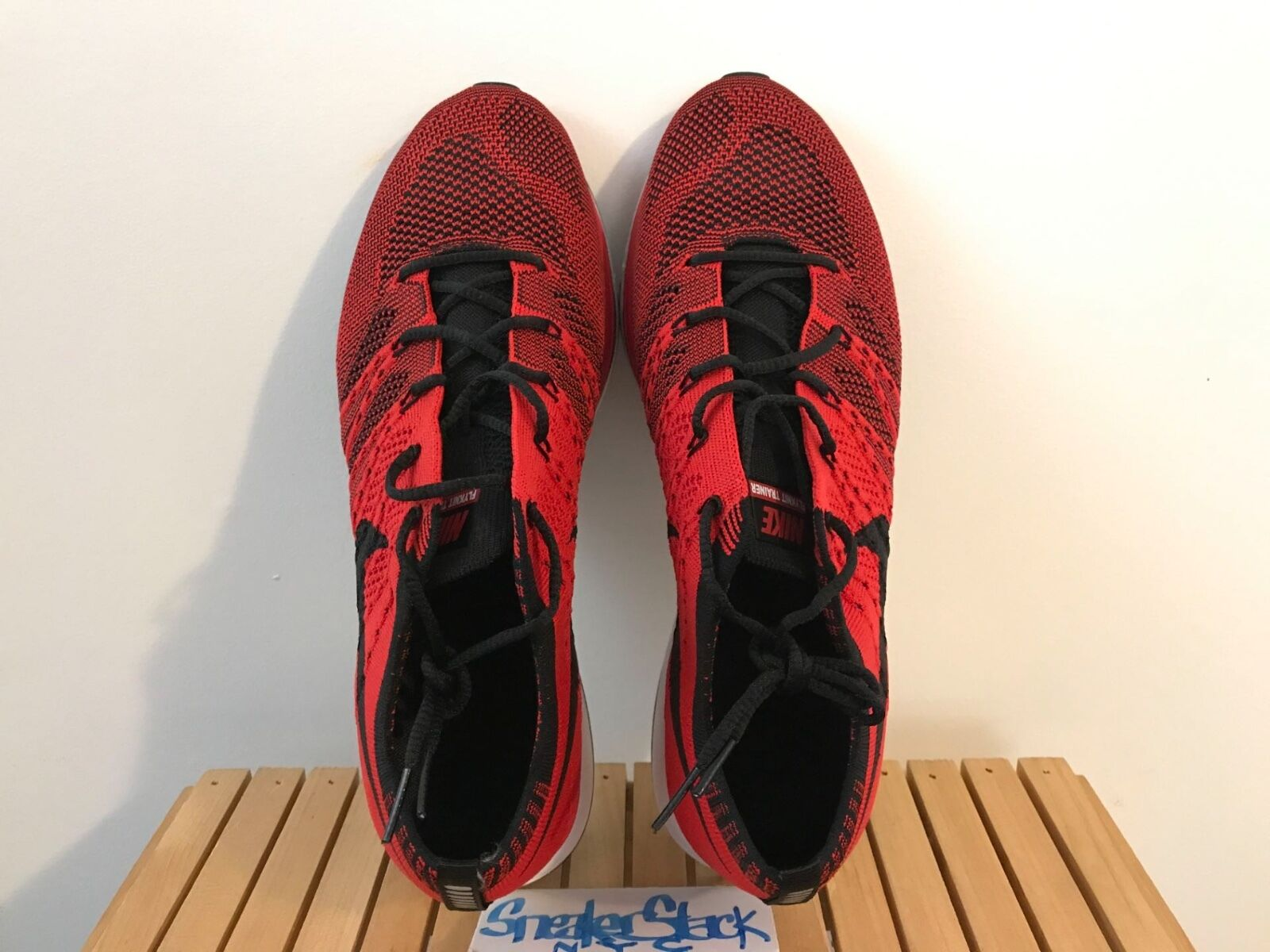 2018 Nike Flyknit Trainer University Red Olympic Trials 1/400 Mens US Sz 8 RARE