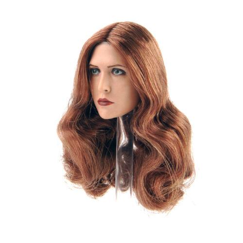 Female Head Scarlet Witch Long Hair 1//6 Elizabeth Olsen Sculpt F Female Action