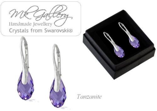 925 Sterling Silver Earrings 17mm BRIOLETTE Crystals from Swarovski®