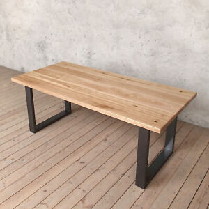 Groovy Details About Holborn Natural Solid Ash Modern Wood Dining Table Graphite Grey U Shaped Legs Download Free Architecture Designs Rallybritishbridgeorg