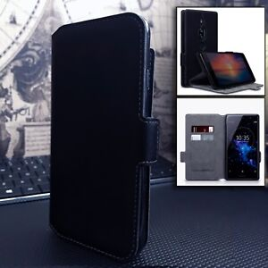 Avatec-Low-Profile-High-End-Real-Leather-Wallet-Book-Case-Sony-Xperia-1