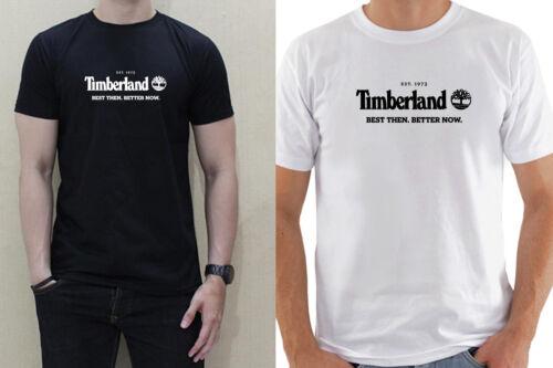 TIMBERLAND LOGO FAMOUS MODE men black white t-shirt 100/% cotton short sleeve