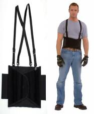 Cordova Safety Products Back Support Belt with Attached Suspenders and Adjustable Clips Large Renewed Black