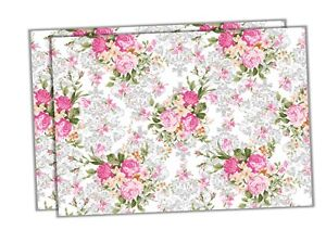 ZZ33-Rose-flowers-floral-colourful-A4-cake-wrap-around-topper-icing-sheet