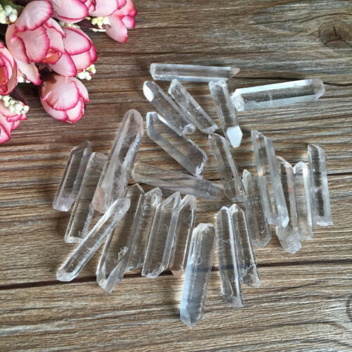 Nice Healing Crystal Stone Quartz Single Natural Clear Column Decoration Pointed