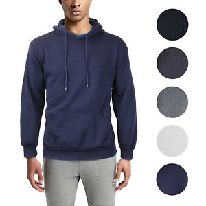 Men-039-s-Athletic-Fleece-Lined-Sport-Gym-Sweater-Pullover-Jacket-Drawstring-Hoodie