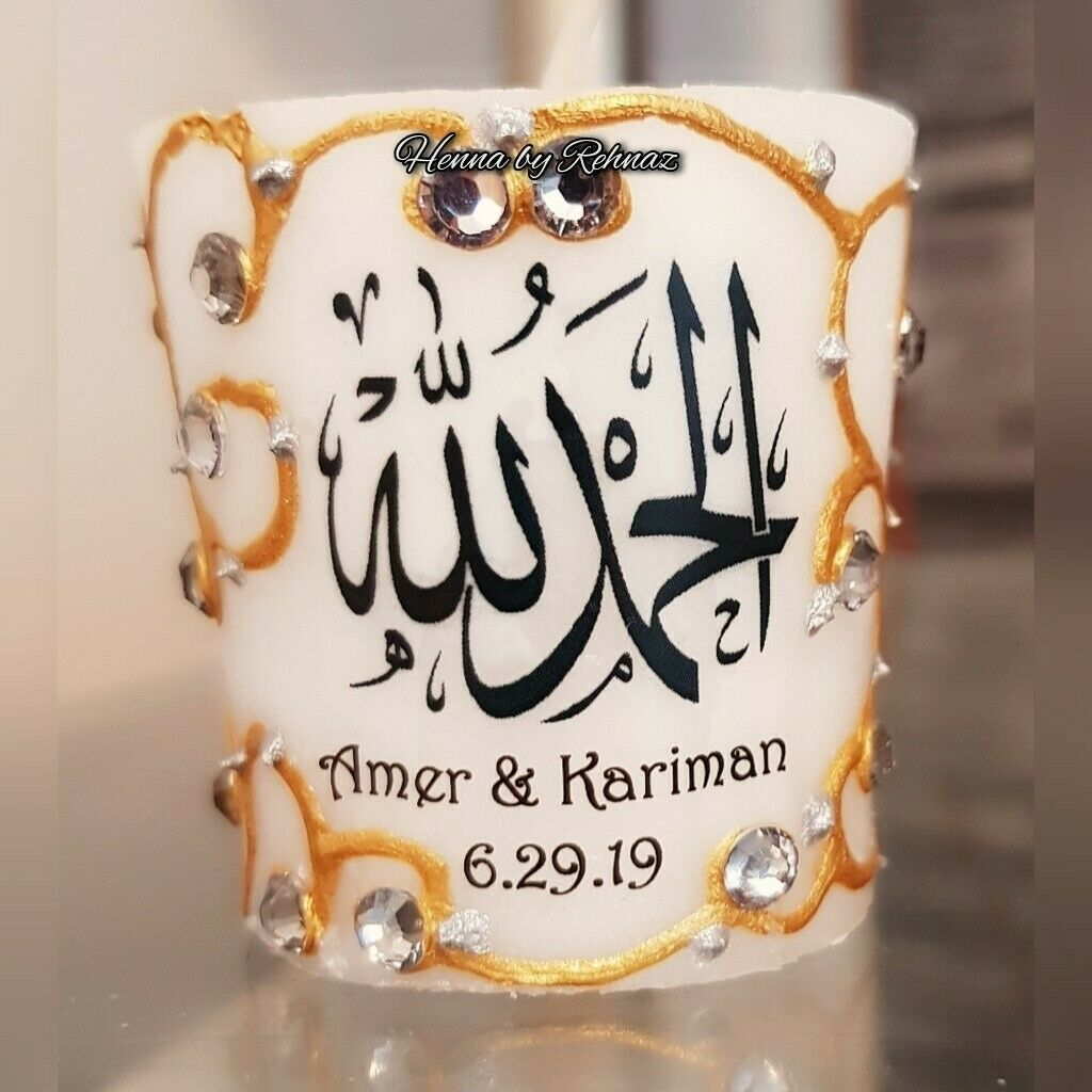 100 personalised candles favors,mehndi candle,henna candles,wedding favors islam