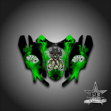 Arctic Cat Firecat Sabercat F5 F6 F7 03 - 06 Graphics Wrap Outlaw Hood Green