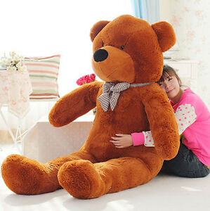 120 CM 47'' Giant Big Cute Brown Plush Teddy Bear Huge Soft 100% PP Cotton Toy