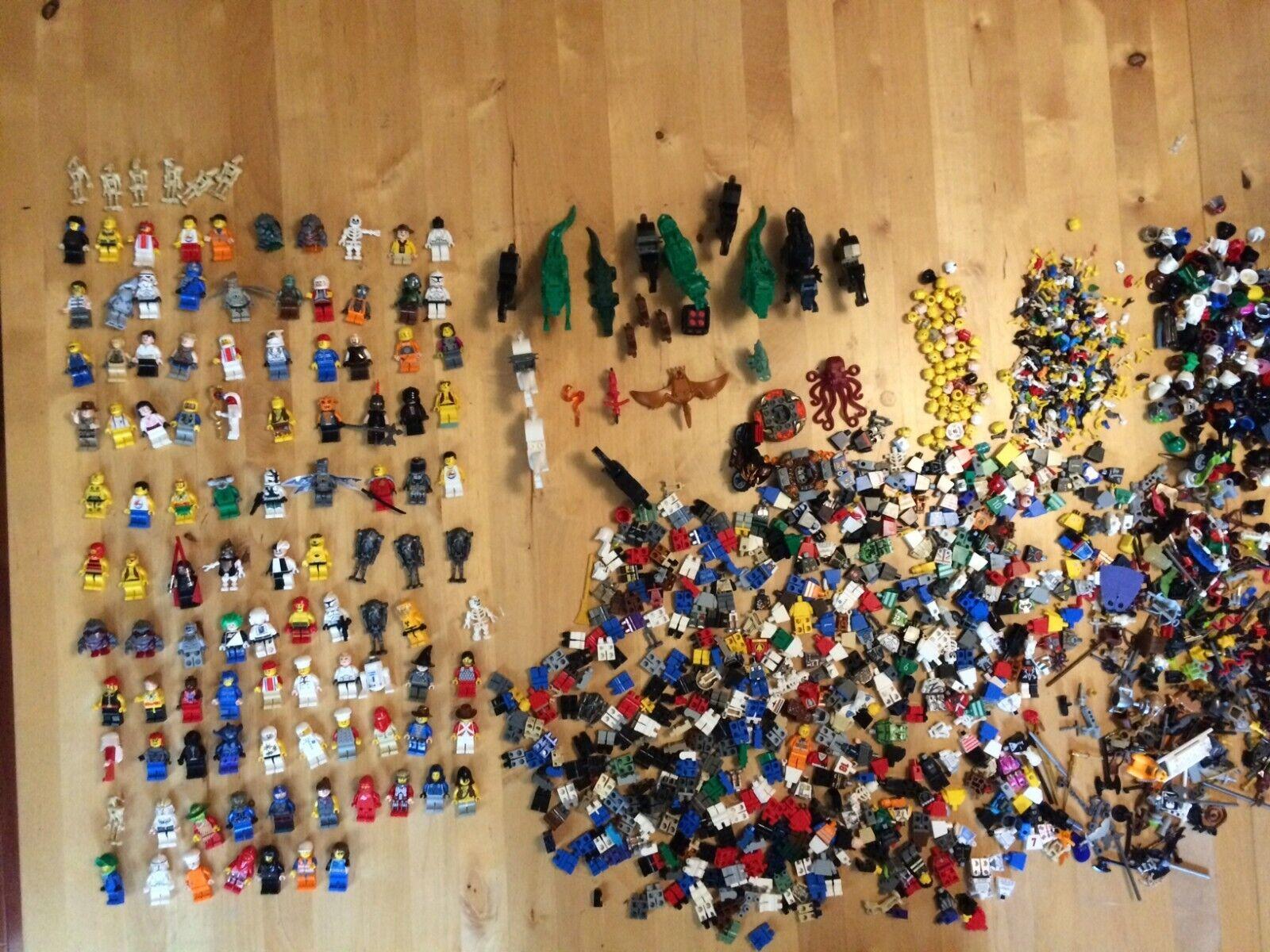 Huge mega Lego Minifigure Lot 100's of figures accessories weapons Star Wars