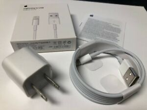 b0f3c224197 OEM Original Apple iPhone Lightning cable & charger cube 5,6, 6+,7,7 ...