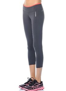 New-Womens-Ladies-Reebok-Leggings-Bottoms-Pants-Running-Fitness-Gym-Grey