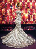 Designer Evening Mermaid Dress Outfit Gown Silkstone Barbie Fashion Royalty FR2