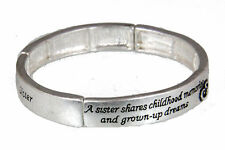 4030944 Sister Stretch Bracelet Childhood Memories Gift Secret Sibling