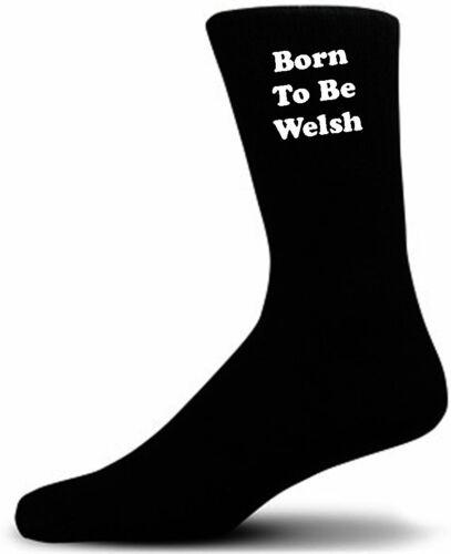 Born To Be Welsh Novelty Socks Black Novelty Socks.