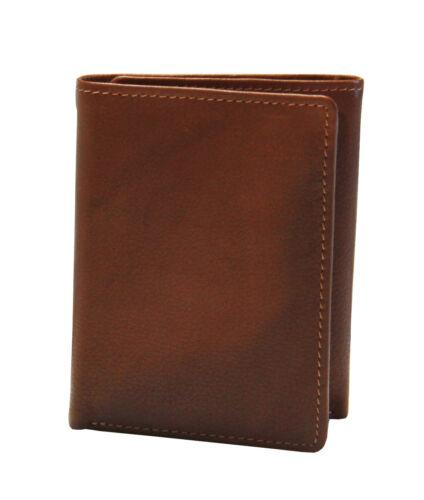 iLi Mens Leather RFID Blocking Trifold Wallet 7730