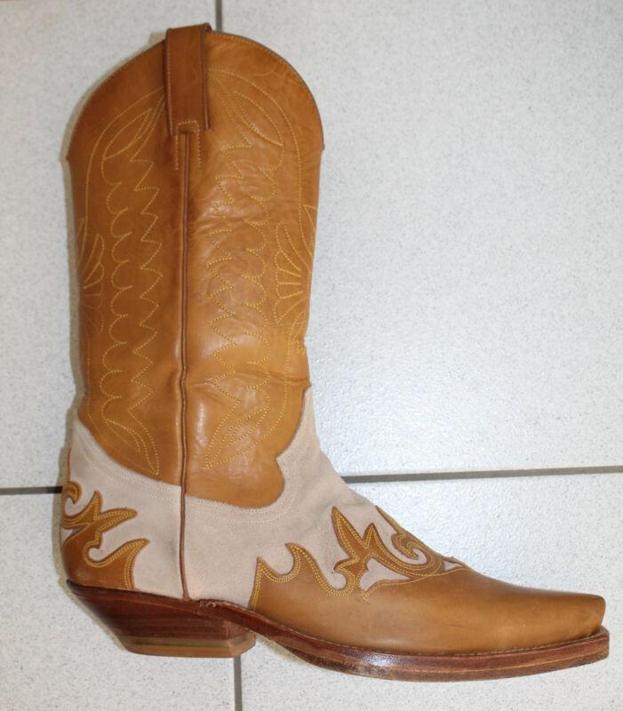 "Cowboy-stiefel ""tony Mora"" Beige/braun Leder Gr. 40"