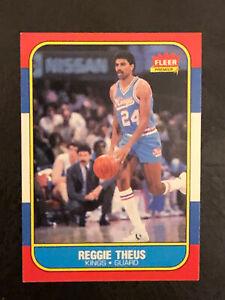1986-87 Fleer Basketball Reggie Theus Card #108 NM Sacramento Kings