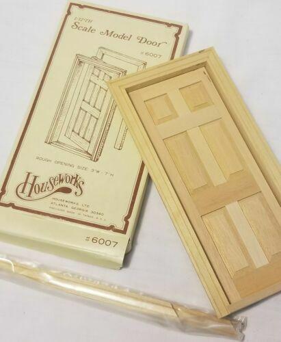 VTG Houseworks Ltd 6-Panel Interior Door #6007 Wooden Craft Dollhouse