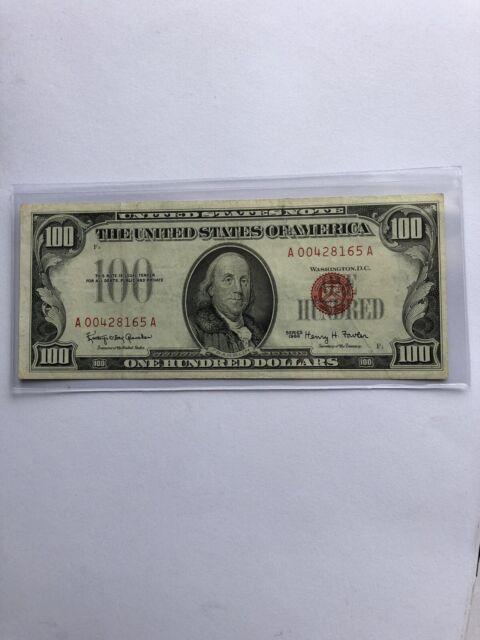 One Hundred Dollars 1966 United States Notes
