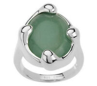 Rlm Studio Sterling Oval Aventurine Free-form Design Ring Size 7