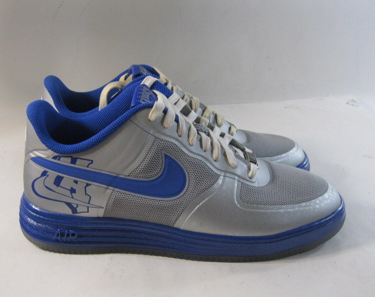 Nike Lunar Force 1 Fuse City (La) Mens 577666-001 Silver Blue Shoes Size 9.5
