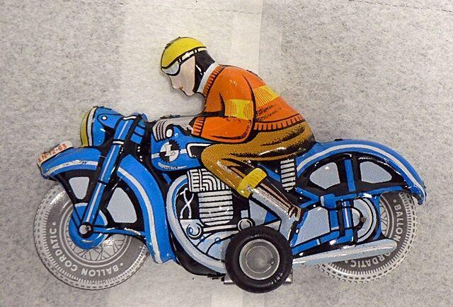 Jahr TIN FRICTION Spielzeug MAN ON MOTORCYCLE