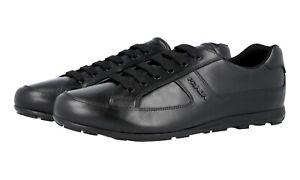 5 42 cuir Prada 8 5 noir de 43 luxe en Baskets 4e3231 nouveau lTK31FJc