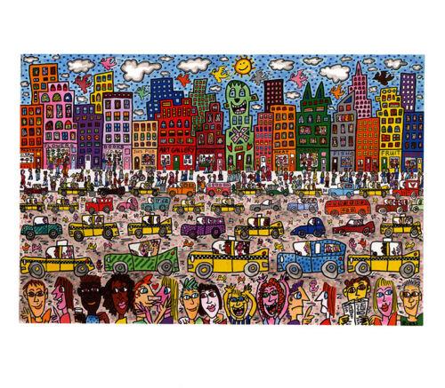 City Love PopArt Stadt Leben USA Birds Kunstdruck Poster Plakat Rizzi Platte 23