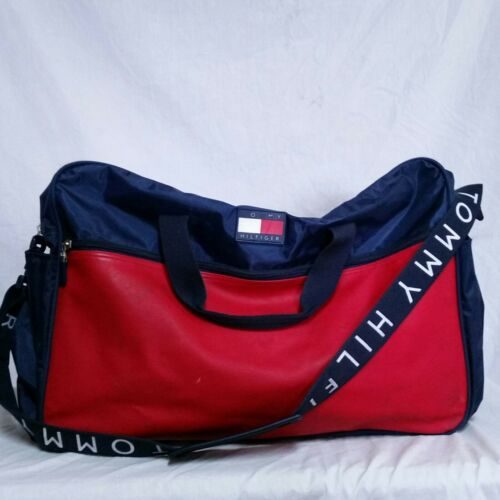 VTG 90s Tommy Hilfiger Duffle Bag Gym Spell Out Co