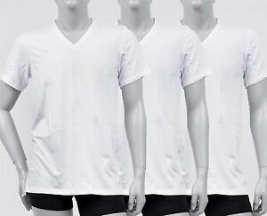 New-Calvin-Klein-Men-039-s-3-Pack-Cotton-Stretch-V-Neck-Classic-Fit-T-shirt