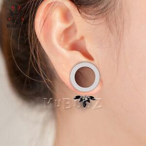 1-Pair-Stainless-Steel-Petal-Pendant-Ear-Plugs-Screw-Fit-Gauges-Tunnels-Earrings